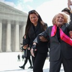 Edith Windsor leaves the supreme court